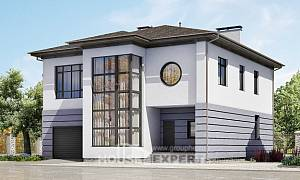 300-006-L Two Story House Plans and garage, best house Models Plans