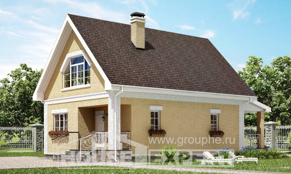 130-004-R Two Story House Plans with mansard roof, cozy Blueprints