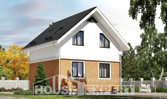 070-001-L Two Story House Plans with mansard roof, cheap Cottages Plans