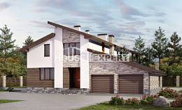 240-004-R Two Story House Plans and mansard and garage, beautiful Drawing House