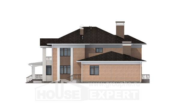 520-001-R Three Story House Plans, big House Online