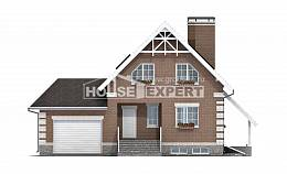 200-009-L Three Story House Plans with mansard with garage under, cozy Building Plan