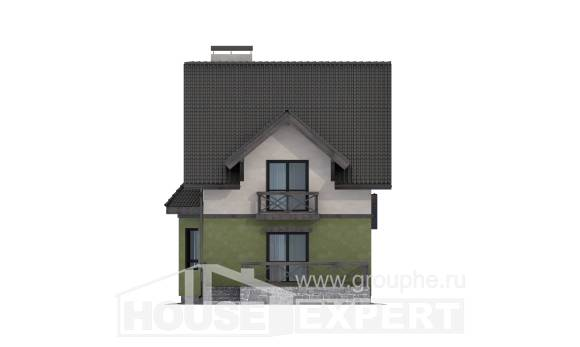 120-003-R Two Story House Plans, modest Timber Frame Houses Plans