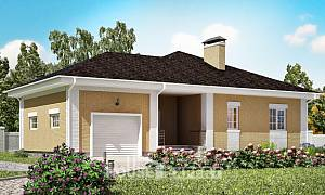 130-002-L One Story House Plans and garage, a simple Plans Free