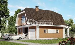 160-006-R Two Story House Plans with mansard with garage under, available House Online