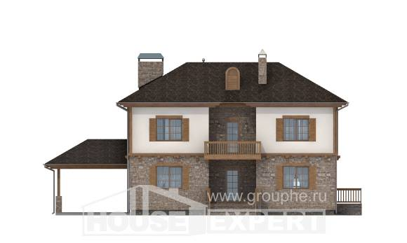 155-006-L Two Story House Plans with garage in front, available House Online