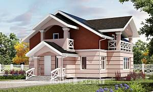 155-009-L Two Story House Plans with mansard, the budget House Planes