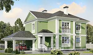 170-001-L Two Story House Plans with garage in front, the budget House Planes