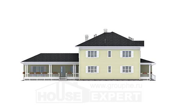 410-002-L Two Story House Plans with garage in back, a huge Plans Free