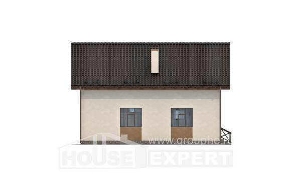 170-002-R Two Story House Plans and mansard, compact Construction Plans