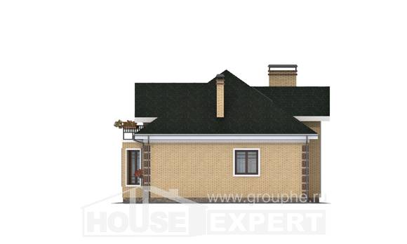 150-013-L Two Story House Plans with mansard roof, small Home Blueprints
