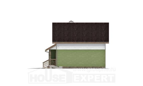 120-002-R Two Story House Plans with mansard roof and garage, best house Design Blueprints