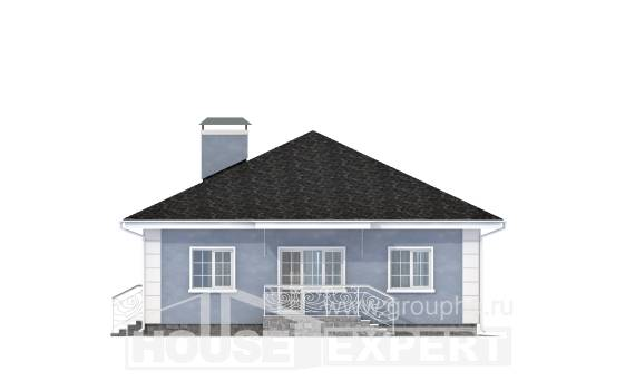 100-001-R One Story House Plans, a simple Cottages Plans