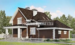 190-003-L Two Story House Plans with mansard roof with garage in front, modern House Building