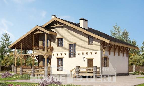 260-001-L Two Story House Plans with mansard, modern Plan Online