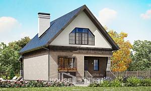 130-003-R Two Story House Plans with mansard, available Blueprints