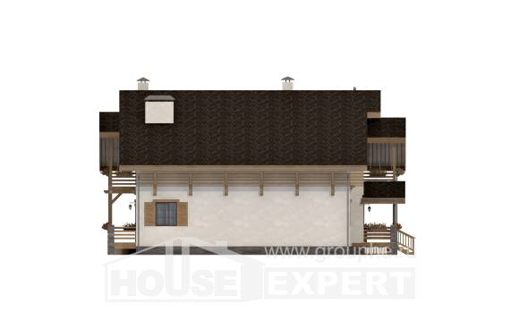 260-001-L Two Story House Plans with mansard roof, a huge Ranch