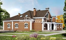400-003-R Two Story House Plans with mansard roof, beautiful Construction Plans