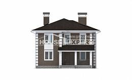 185-002-R Two Story House Plans, spacious Blueprints