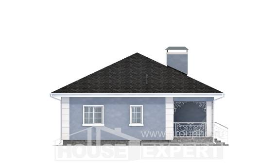 100-001-R One Story House Plans, the budget Tiny House Plans