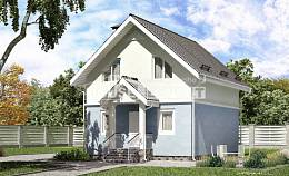 095-002-R Two Story House Plans with mansard roof, small Architect Plans