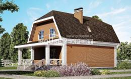 160-006-R Two Story House Plans and mansard with garage, cozy Drawing House