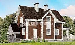 190-003-L Two Story House Plans and mansard with garage, best house Blueprints