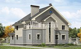 300-004-R Two Story House Plans, big Online Floor