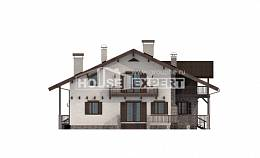 250-003-R Two Story House Plans with mansard, classic House Blueprints