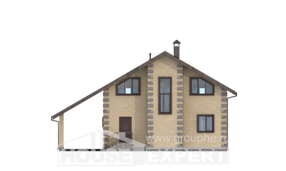 150-003-R Two Story House Plans with garage in back, the budget Floor Plan