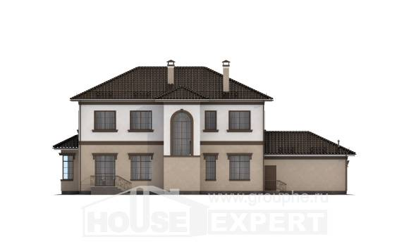 290-004-L Two Story House Plans with garage in back, beautiful House Plan