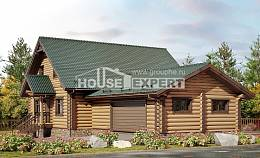 270-002-R Two Story House Plans and mansard with garage, classic Timber Frame Houses Plans