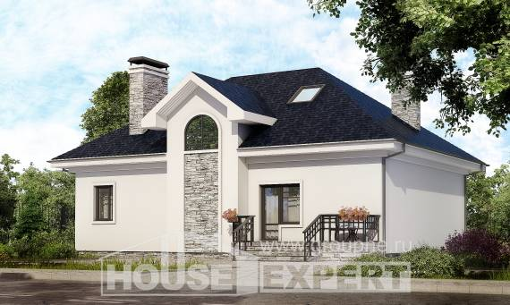 150-008-R Two Story House Plans with mansard roof, small Plans To Build
