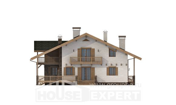250-003-L Two Story House Plans with mansard roof, spacious House Plans