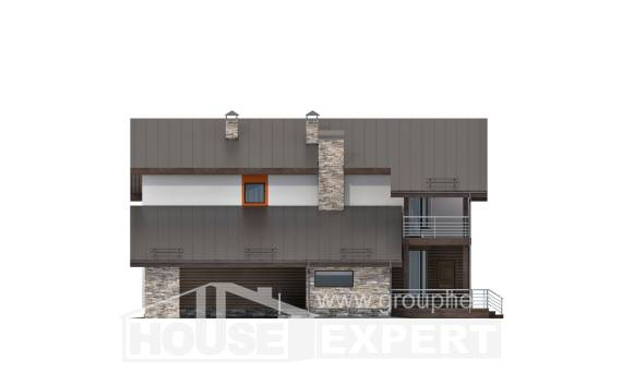 200-010-R Two Story House Plans with mansard with garage in front, luxury Online Floor