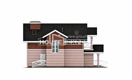 155-009-L Two Story House Plans with mansard, beautiful Woodhouses Plans