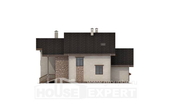 240-003-L Two Story House Plans with mansard roof, luxury House Plan