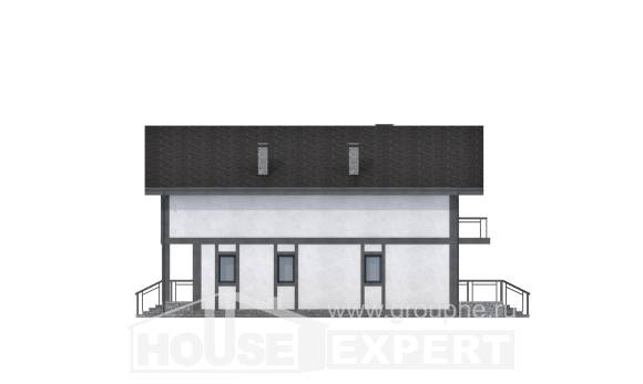 280-002-R Two Story House Plans with mansard, best house Building Plan