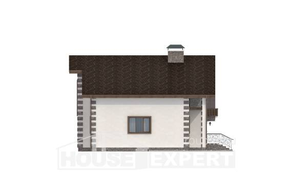 150-003-L Two Story House Plans and mansard with garage in back, modern House Planes