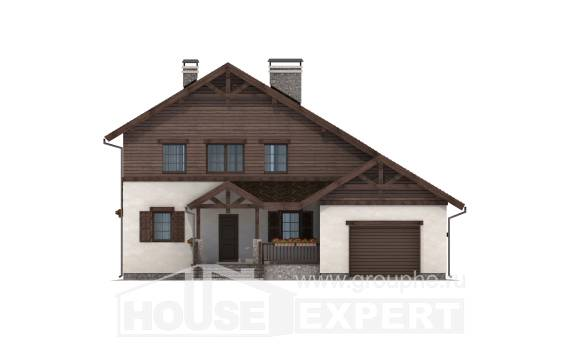 200-003-R Two Story House Plans with garage in back, cozy Blueprints of House Plans