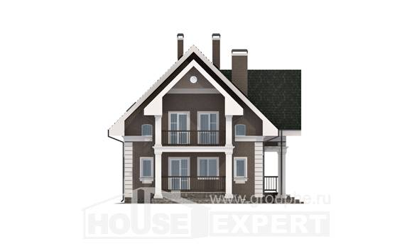 140-003-R Two Story House Plans with mansard roof with garage, beautiful Planning And Design