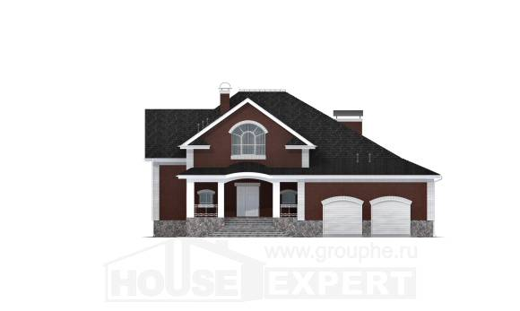 600-001-R Three Story House Plans with mansard roof with garage, modern Planning And Design