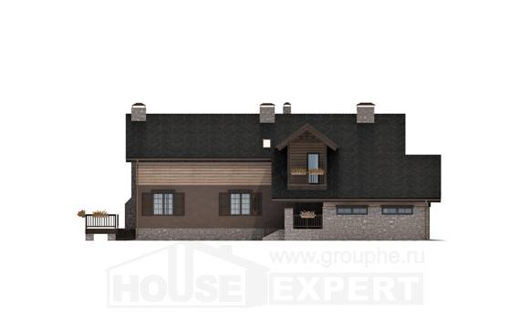 240-002-R Two Story House Plans with mansard roof with garage in back, classic Online Floor