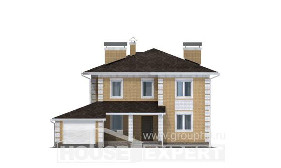 220-006-L Two Story House Plans with garage in back, spacious Custom Home