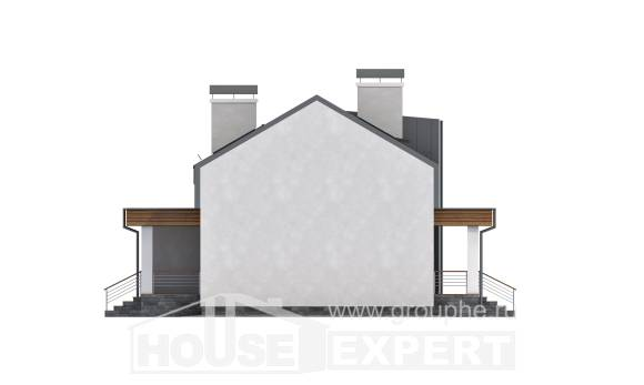 120-004-R Two Story House Plans with mansard, beautiful Models Plans