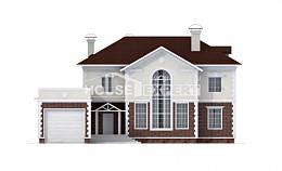 380-001-L Two Story House Plans with garage under, cozy House Plan