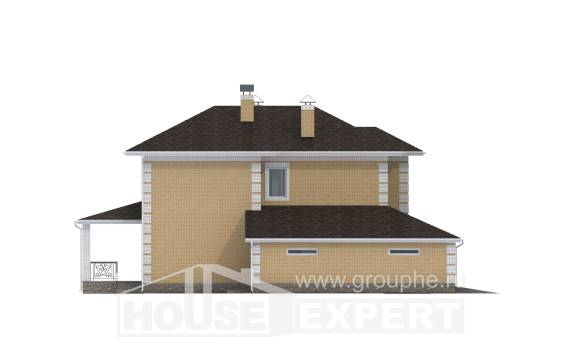 220-006-L Two Story House Plans with garage in back, modern House Online