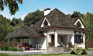 110-002-L Two Story House Plans with mansard roof and garage, economical House Planes