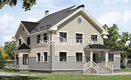 300-004-R Two Story House Plans, cozy Blueprints