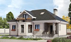 150-013-R Two Story House Plans and mansard, inexpensive Timber Frame Houses Plans